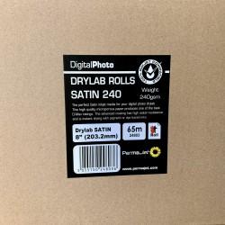 "PermaJet DX100 8""x213' Satin (Lustre) Paper - 4 Rolls"